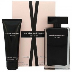 SET NARCISO RODRIGUEZ MUJER EDT 100 ML + BL 75 ML TRAVEL EXCLUSIVE
